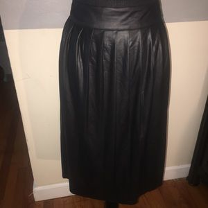 Faux Leather Pleated Mini Skater Skirt Lane Bryant